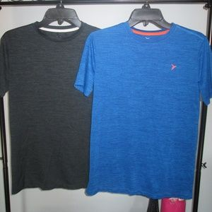 2 Old Navy Active Tees Boys XL 14/16  Gray/Blue
